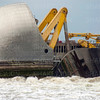 Thames barrier test.