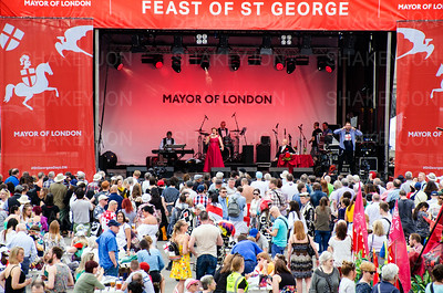Feast of St George celebrations in Trafalgar Square.
