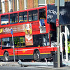 London, UK, Battersea -Bus crashes into furniture shop on Lavender Hill - 10/08/2017