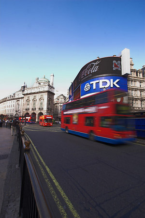 Buses at Piccadilly Circus London