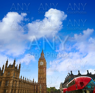 Big Ben Clock Tower with London Bus