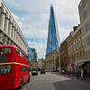 The Shard and old London red Bus