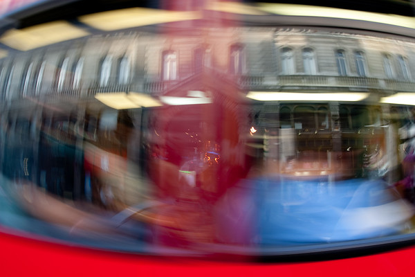 London Bus Reflection