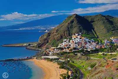 Spain , Canary Islands , Tenerife Island , San Andres City , Las Teresitas Beach