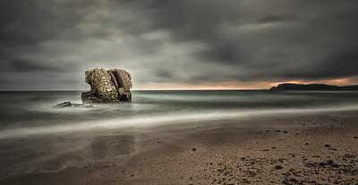 Ancient Spanish Tower in the beach (Cagliari - Sardinia)
