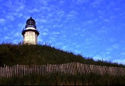 MONTAUK LIGHTHOUSE FROM THE BEACH SIDE