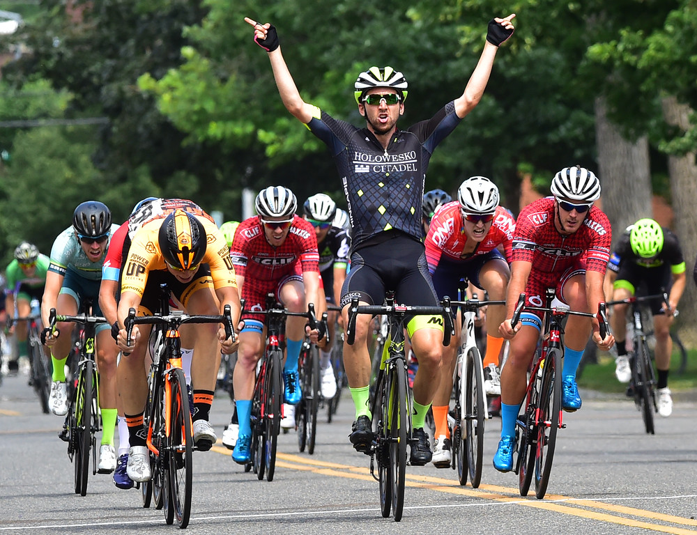 . Joe Lewis wins the Senior Men\'s Pro Race Level 1-2-3  in the 31st Annual Longmont Criterium  on Sunday. For more photos go to timescall.com Paul Aiken Staff Photographer July 9, 2017