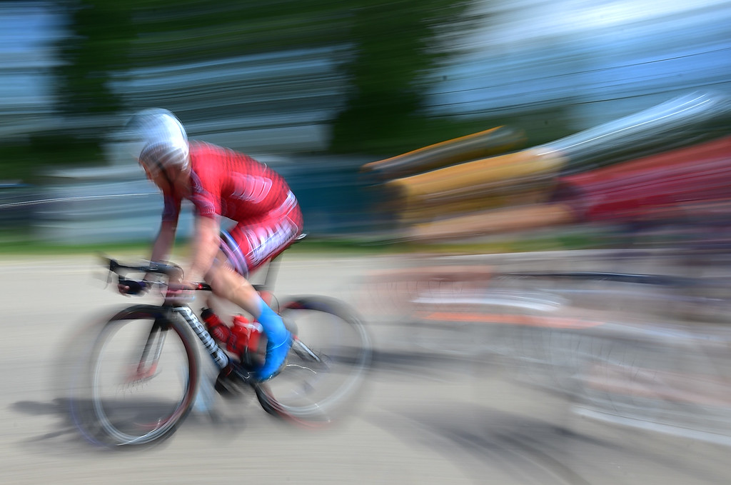 . Riders fly by in the Senior Men\'s Pro Race Level 1-2-3  in the 31st Annual Longmont Criterium  on Sunday. For more photos go to timescall.com Paul Aiken Staff Photographer July 9, 2017
