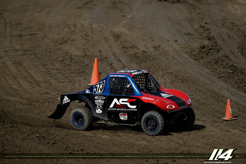Travis PeCoy (573) - Lucas Oil Off Road Racing Series  E3 Spark Plugs Battle by the Lake at Lake Elsinore Motorsports Park in Lake Elsinore, California on May 30, 2015. Chris Anderson/114 Photography