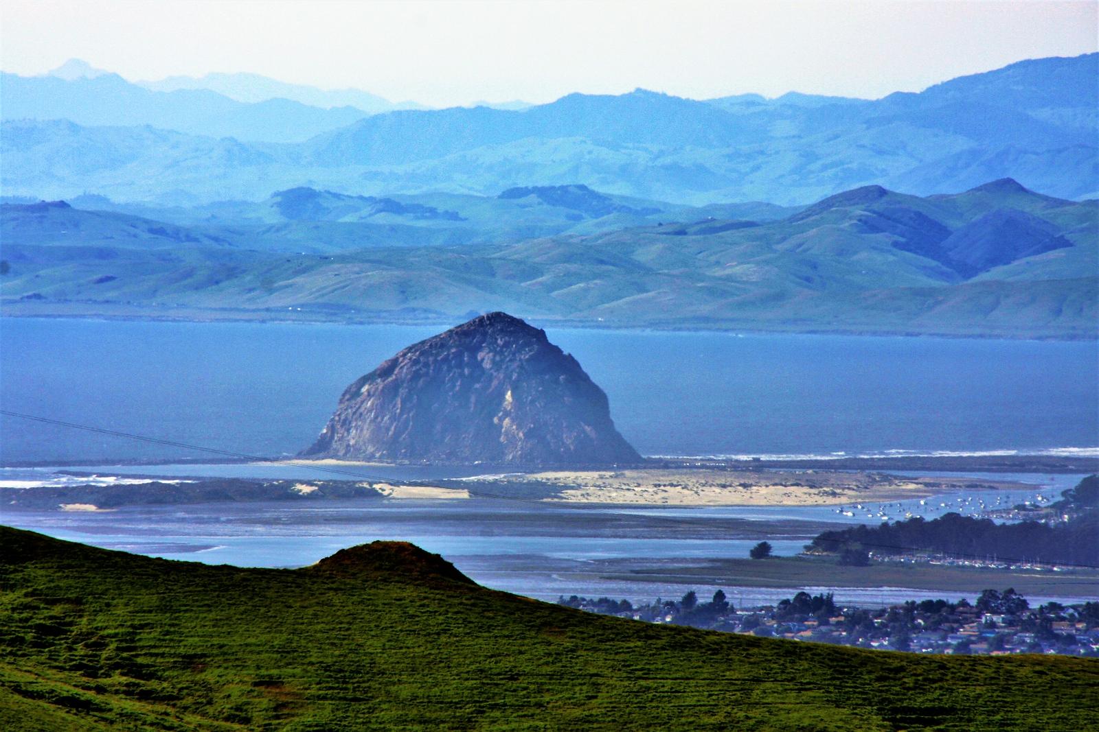 Morro Rock ten miles away thru 270mm telephoto lens