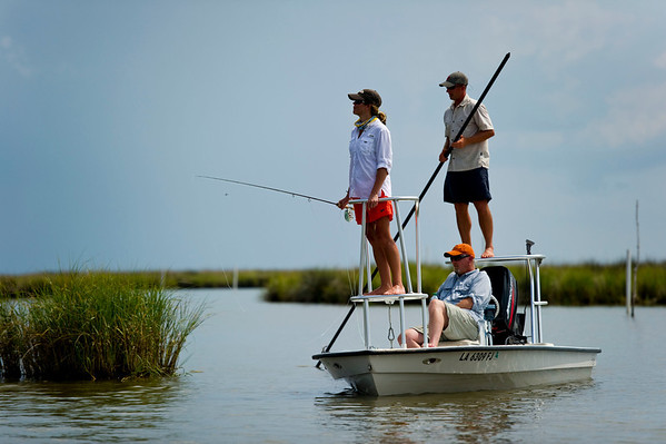 Louisiana Redfishing - Jim Klug Photos - Woodland Plantation and Louisiana Flywater
