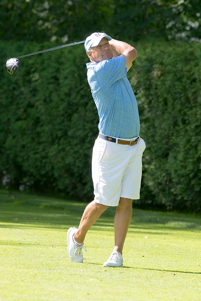The final round of the 94th annual Lowell City Golf Tournament was held at Mt. Pleasant Golf Club on Saturday, June 22, 2019. Golfer George popp tees off on the eighth hole during the tournament. SENTINEL & ENTERPRISE/JOHN LOVE