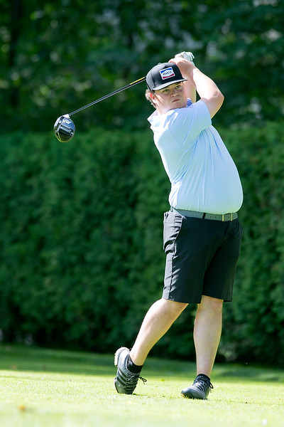 The final round of the 94th annual Lowell City Golf Tournament was held at Mt. Pleasant Golf Club on Saturday, June 22, 2019. Golfer Jonathan Scano  tees off on the eighth hole during the tournament. SENTINEL & ENTERPRISE/JOHN LOVE