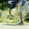 The final round of the 94th annual Lowell City Golf Tournament was held at Mt. Pleasant Golf Club on Saturday, June 22, 2019. Golfer John Devito knocks away some cobwebs before he putt on the eighth green. SENTINEL & ENTERPRISE/JOHN LOVE