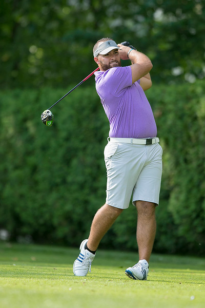 The final round of the 94th annual Lowell City Golf Tournament was held at Mt. Pleasant Golf Club on Saturday, June 22, 2019. Golfer Nick Fantasia tees off on the eighth hole. SENTINEL & ENTERPRISE/JOHN LOVE
