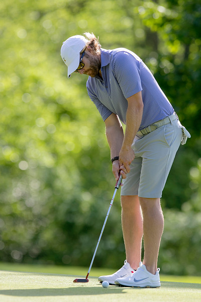 The final round of the 94th annual Lowell City Golf Tournament was held at Mt. Pleasant Golf Club on Saturday, June 22, 2019. Rich Campiola putts on the eighth green. SENTINEL & ENTERPRISE/JOHN LOVE