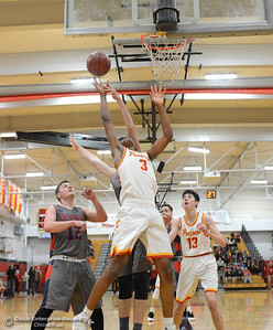 Kaden Bradley scores as Chico hosts Las Plumas on the basketball court Friday, Feb. 24, 2017, in Chico, California. (Dan Reidel -- Enterprise-Record)