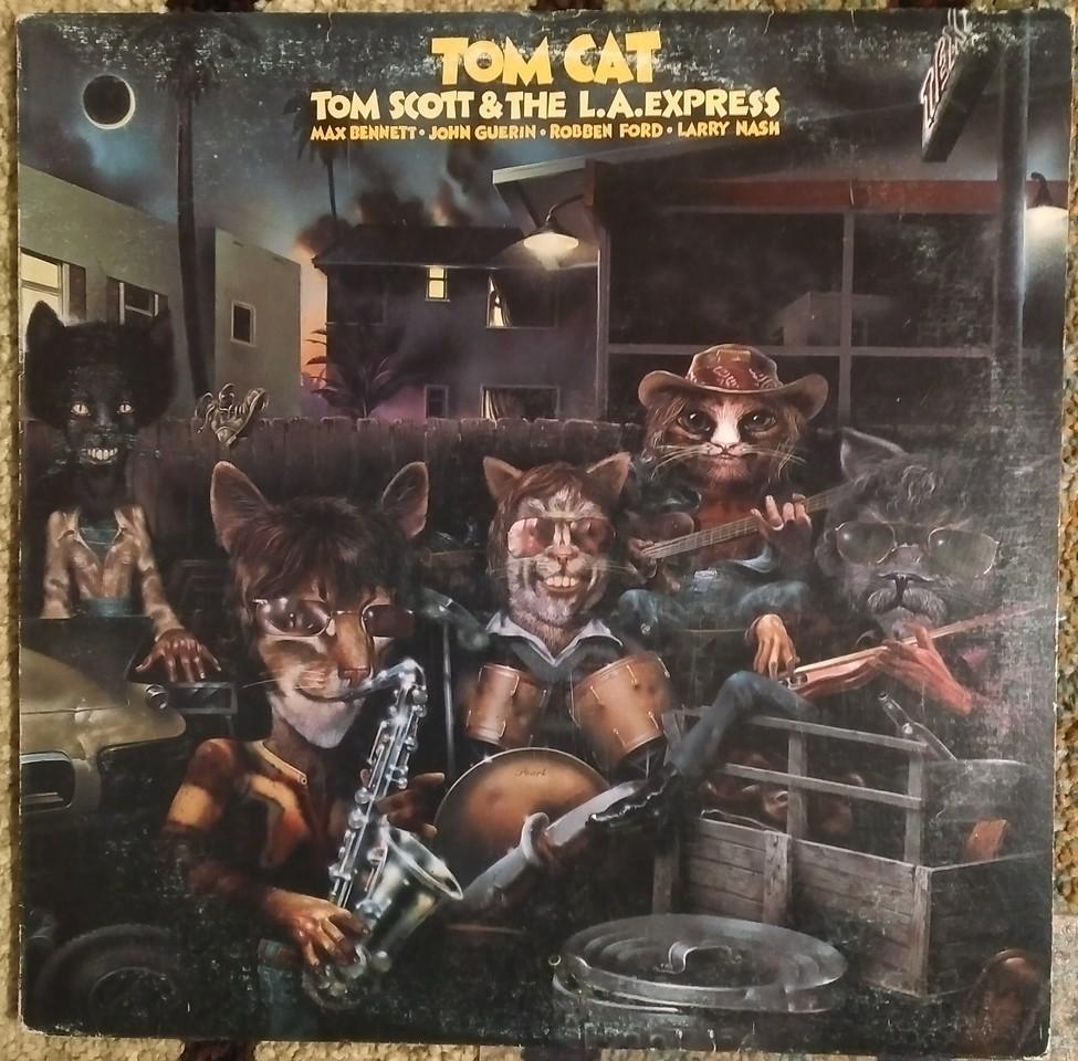 Tom Scott & The L.A. Express - Tom Cat (Epic, Ode Records (2) - PE 34956)