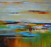 Abstracted Landscape-Welsh, AECW11-75, 50x50 canvas