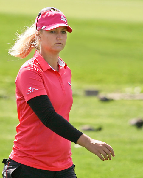 24 MAR 12  iAnna Nordqvist finishing her last hole on number 9 at  Sundays Final Round of The KIA Classic at La Costa Resort and Spa in La Costa, California.