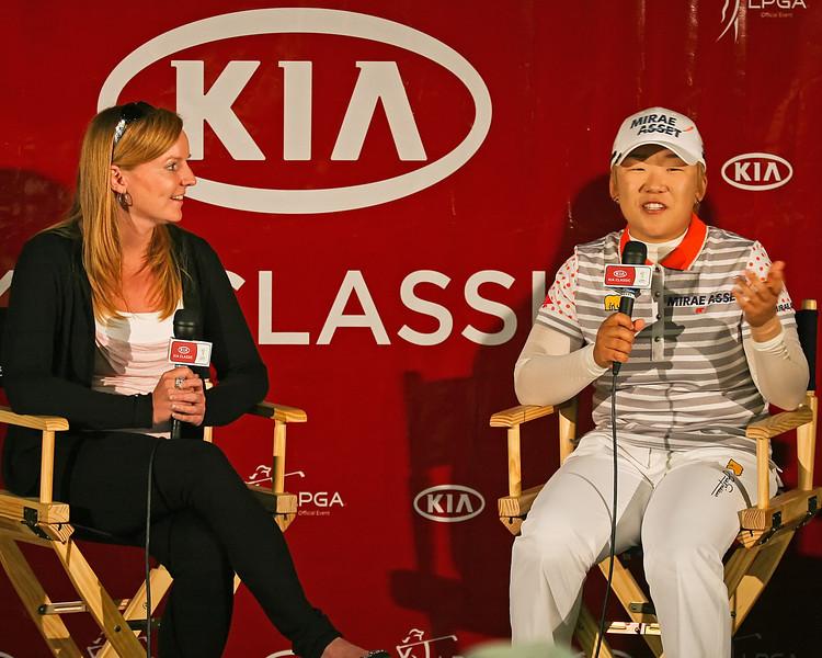 24 MAR 12  Jiyai Shin meets the press after Saturdays Third Round of The KIA Classic at La Costa Resort and Spa in La Costa, California.