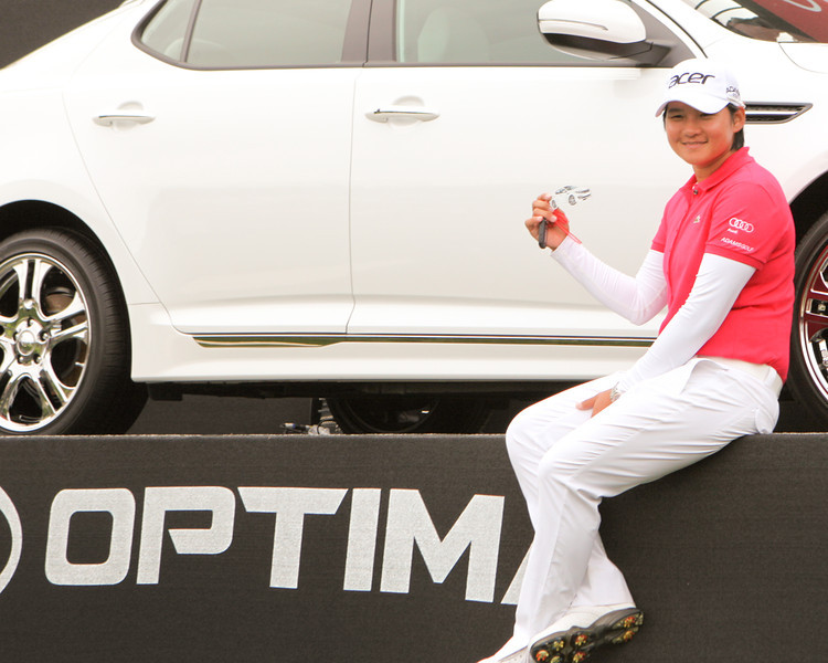 24 MAR 12 Yani Tseng with her new KIA Optima at the conclusion of Sundays Final Round of The KIA Classic at La Costa Resort and Spa in La Costa, California.