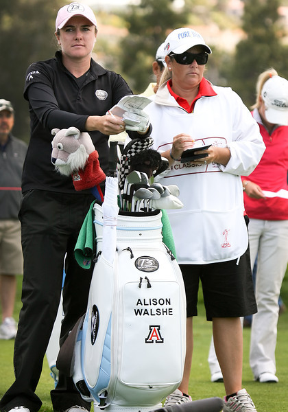 24 MAR 12  Alison Walshe waits on the 8th tee during Sundays Final Round of The KIA Classic at La Costa Resort and Spa in La Costa, California.
