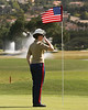 24 MAR 12  The USMC handled the flag on the 9th green all week at The KIA Classic at La Costa Resort and Spa in La Costa, California.
