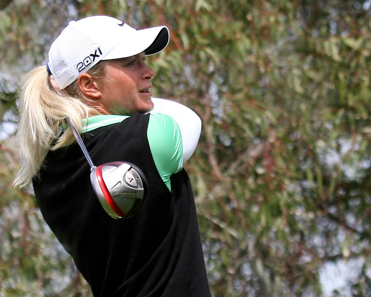 23 MAR 12  Norways Suzann Pettersen on the 3rd tee during The Second Round of The KIA Classic at La Costa Resort and Spa in La Costa, California.