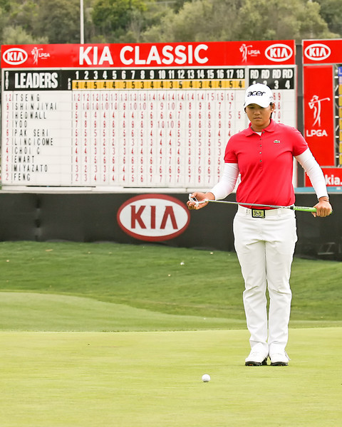 24 MAR 12 Yani Tseng on the 18th green during Sundays Final Round of The KIA Classic at La Costa Resort and Spa in La Costa, California.