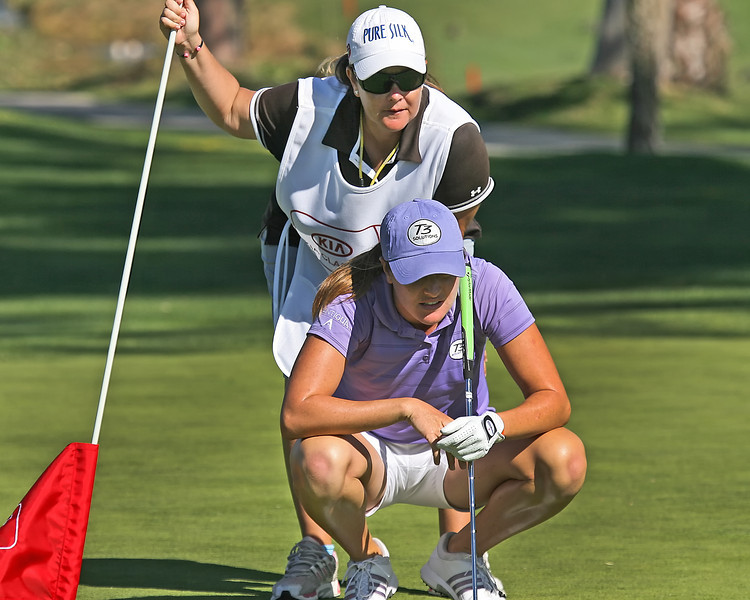 22 MAR 12  Massachusetts native Alison Walshe for birdie at The First Round of The KIA Classic at La Costa Resort and Spa in La Costa, California.