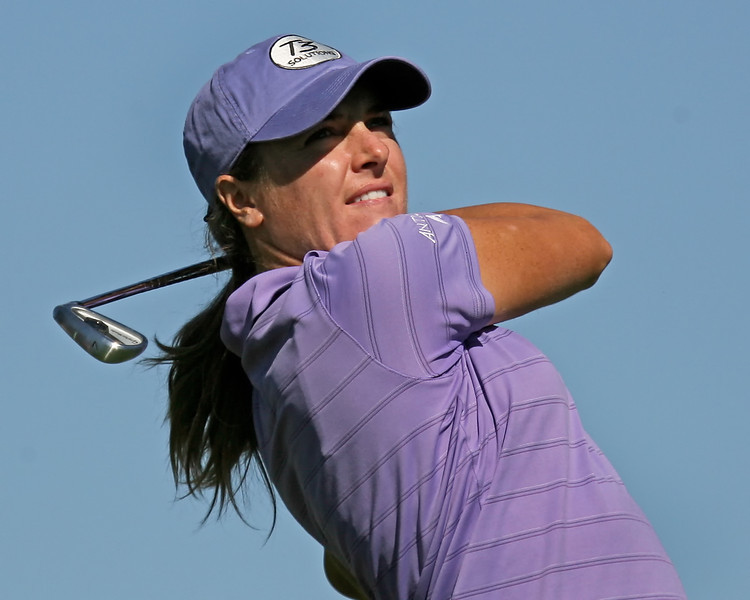 22 MAR 12  Massachusetts native Alison Walshe on the tee at The First Round of The KIA Classic at La Costa Resort and Spa in La Costa, California.