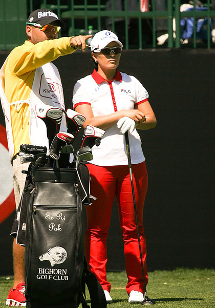 21 MAR 12   Korean Se Ri Pak on the tee during Wednesdays Pro-Am at The KIA Classic at La Costa Resort and Spa in La Costa, California.