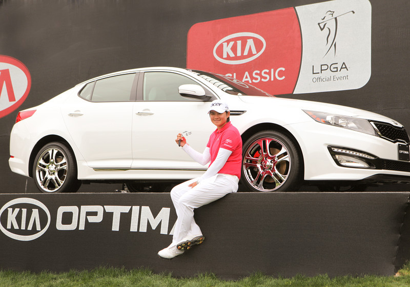 24 MAR 12 Yani Tseng holds the keys to her new KIA Optima at the conclusion of Sundays Final Round of The KIA Classic at La Costa Resort and Spa in La Costa, California.