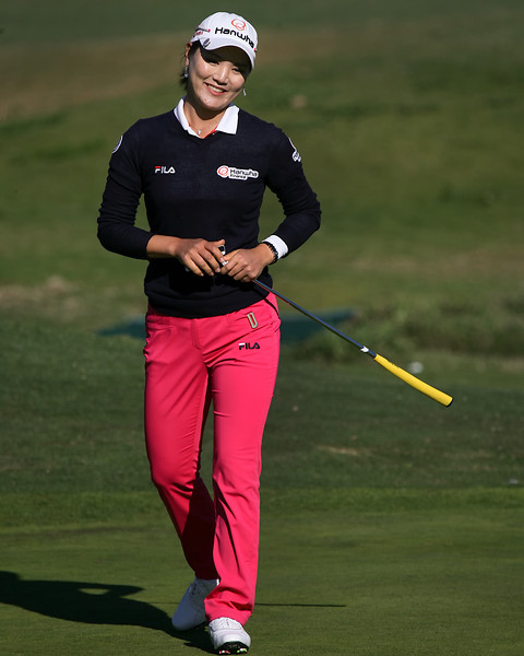 22 MAR 12 So Yeon Ryu makes the best of her near miss for birdie on number 9 duringThe First Round of The KIA Classic at La Costa Resort and Spa in La Costa, California.