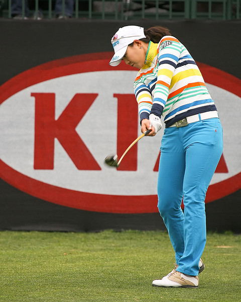 23 MAR 12  Hee Kyung Seo on the 1st tee at The Second Round of The KIA Classic at La Costa Resort and Spa in La Costa, California.