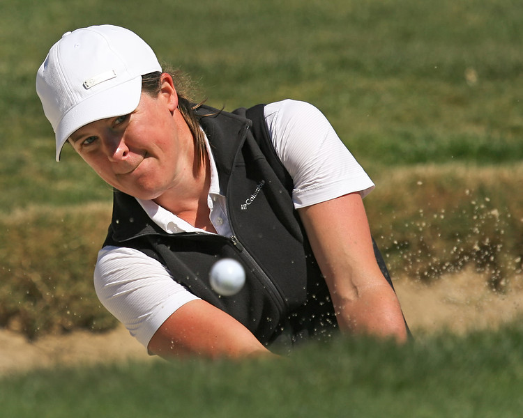 21 MAR 12  Karin Sjodin from the green side bunker during Wednesdays Pro-Am at The KIA Classic at La Costa Resort and Spa in La Costa, California.