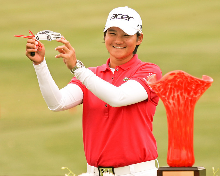 24 MAR 12 Yani Tseng holds the keys to her new KIA at the conclusion of Sundays Final Round of The KIA Classic at La Costa Resort and Spa in La Costa, California.