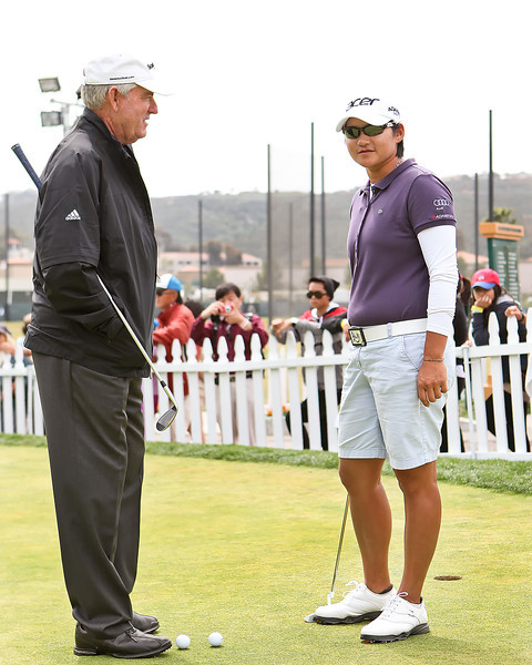 24 MAR 12  The legendery Dave Stockton works with Yani Tseng on the practice green prior to Saturdays Third Round of The KIA Classic at La Costa Resort and Spa in La Costa, California.