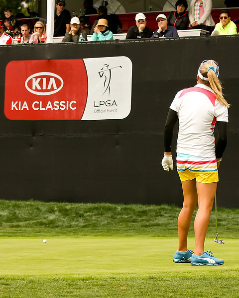 24 MAR 12  Teen sensation Lexi Thompson on the 18th green during Sundays Final Round of The KIA Classic at La Costa Resort and Spa in La Costa, California.