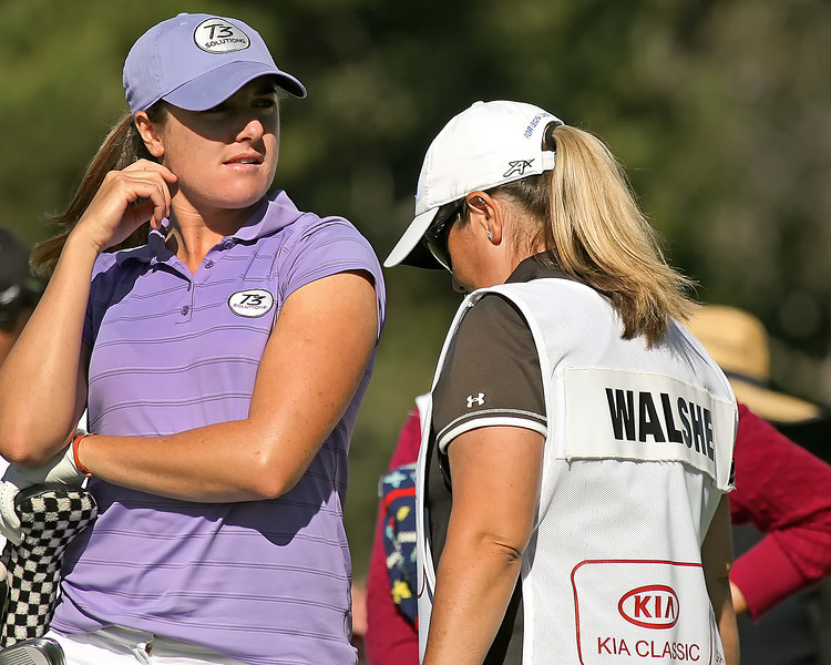 22 MAR 12  Massachusetts native Alison Walshe waits on the tee at The First Round of The KIA Classic at La Costa Resort and Spa in La Costa, California.