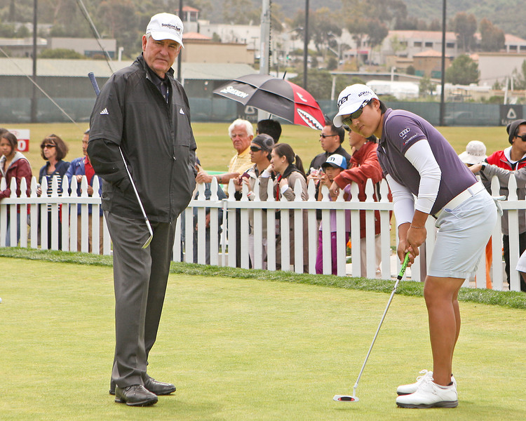 24 MAR 12  Dave Stocton takes a look at Yani Tseng before Saturdays Third Round of The KIA Classic at La Costa Resort and Spa in La Costa, California.
