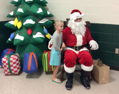 LPS PTO Cookies with Santa