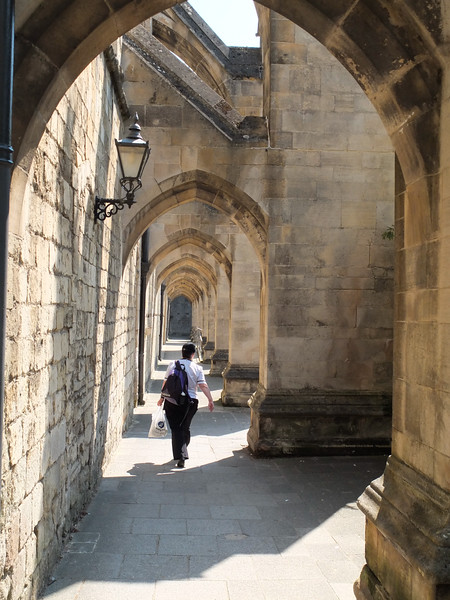 Outside Winchester Cathedral