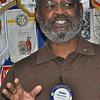 Newly installed president for 2010-2011, Thomas Peeks, who succeeds charter member John Fazel.