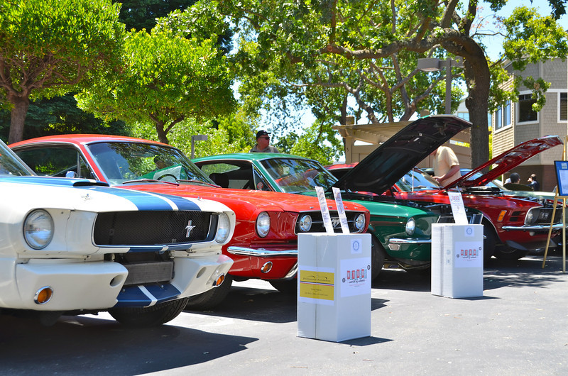 This frame and next, Mustang Row, devoted exclusively to models from 60s and 70s. Behind was Corvette Row, displaying models from 60s to today.