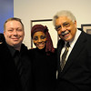 Brian Shaw, Dr. Glory Van Scott, and Rufus Reid (left-right) at post-performance reception.<br /> <br /> This image is the property of Louisiana State University and may not be used, reprinted or reproduced without the express written permission of the LSU College of Music & Dramatic Arts.