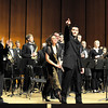 The LSU Wind Ensemble with Donald McKinney, conductor; Joel Puckett, guest composer and Katherine Kemler, soloist.<br /> <br /> Donald McKinney acknowledges outstanding student performers.
