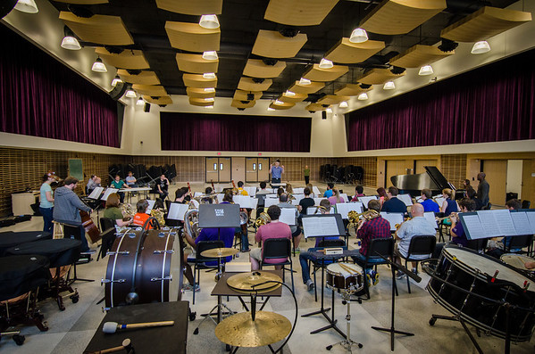 March 18, 2013 WInd Ensemble Rehearsal with David Lang
