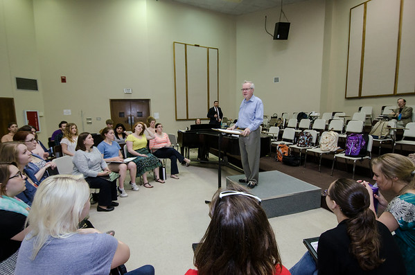 April 2 and 3, 2014 Stephen Cleobury Rehearsal with the A Cappella Choir